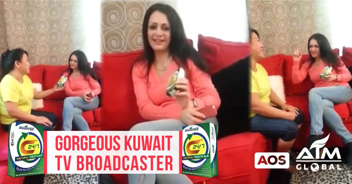 Gorgeous Kuwait TV Newscaster amazed by C24/7 Product